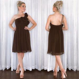 Mink Brown Bridesmaid Dress Bari Jay